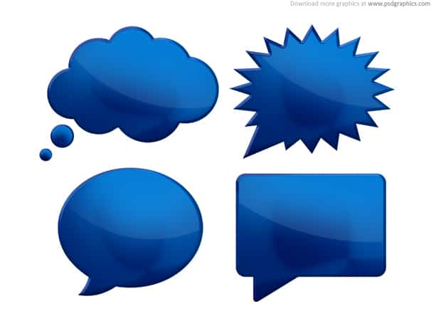 speech bubble psd