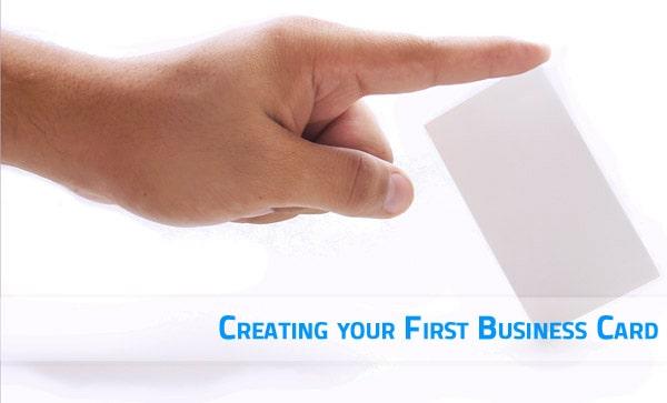 first business card design