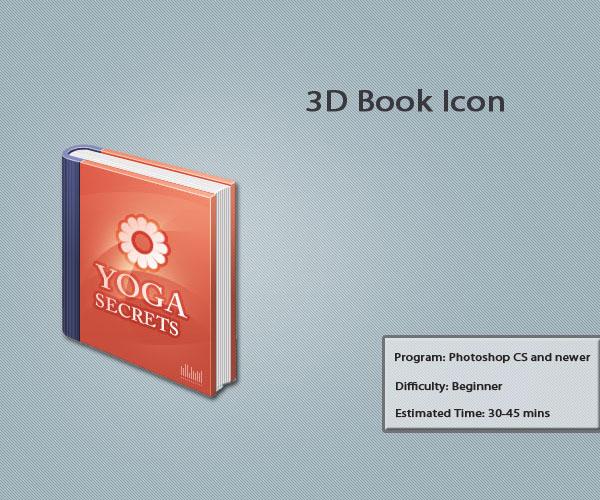 3D Book Icon