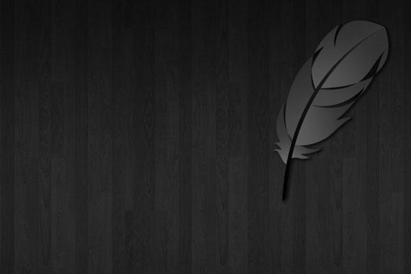 black-wood-leaf-ipad-wallpaper