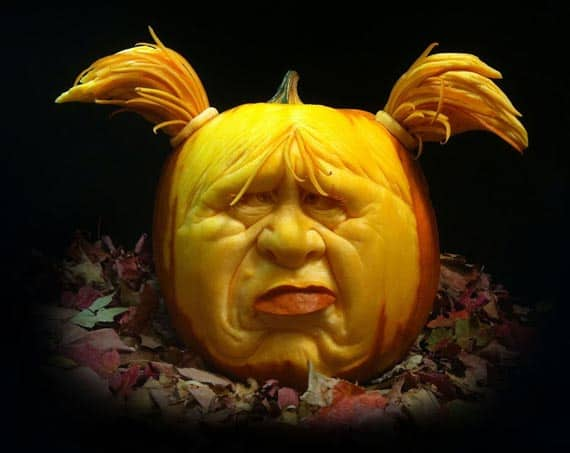 girl pumpkins