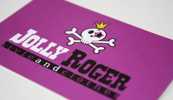 jolly roger business card