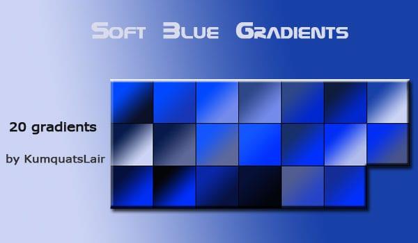 soft blue gradients