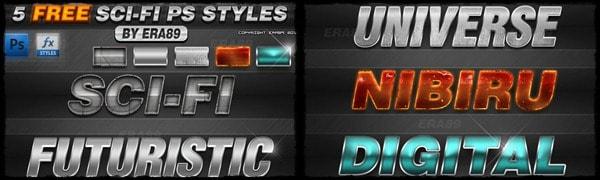 Sci-fi Photoshop Styles