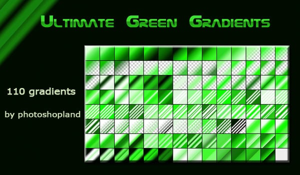 Ultimate green Gradients pack
