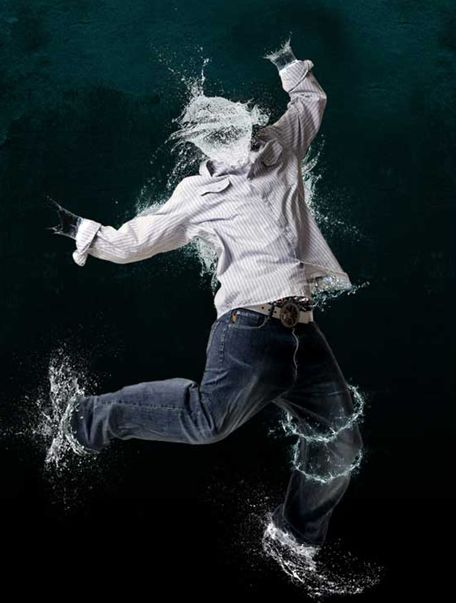 Water effect photo
