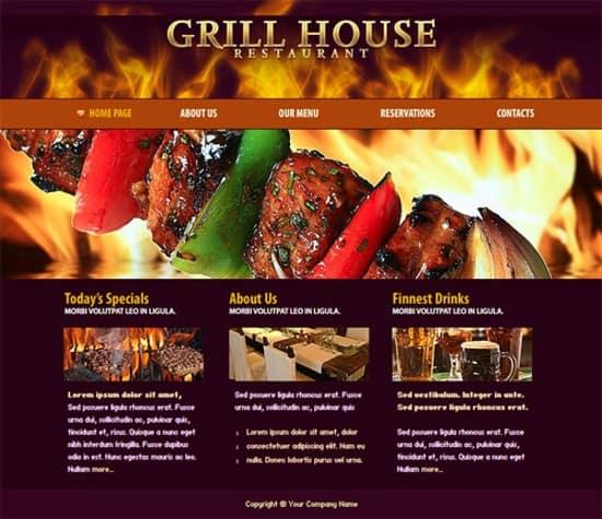 flash restaurant website template