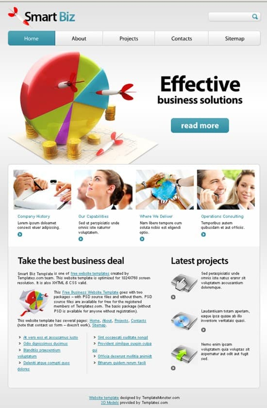 10 Free Business Website Template