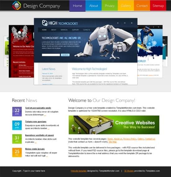 11 Free-HTML5-Design-Company-Website-Template