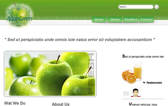 16 AppleGreen HTML5 and CSS3 Template