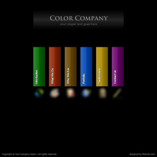 free flash color company web template
