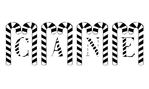 Cane Pillars font