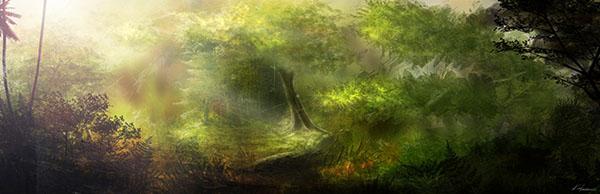 digital illustrations and paintings