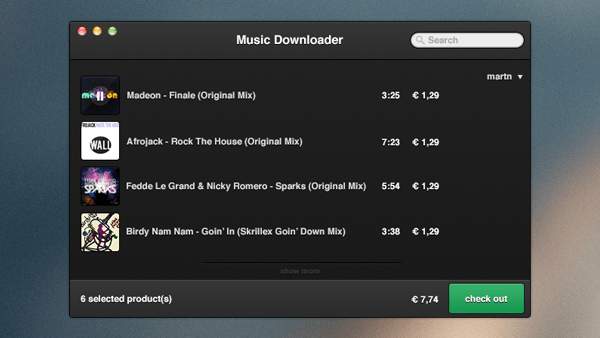 Music Downloader PSD