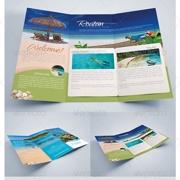 travel brochure template - editable and free travel brochures