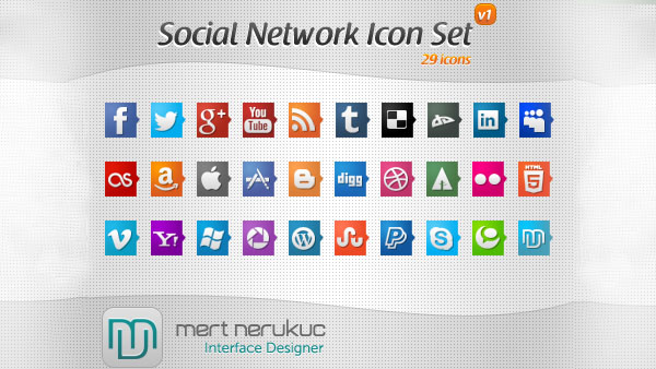 social_networks_icon_set