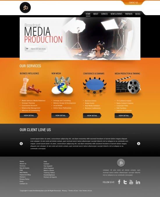 Media Web Template