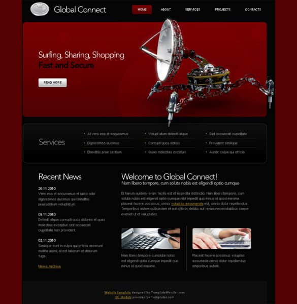 Communications HTML5 Website Template