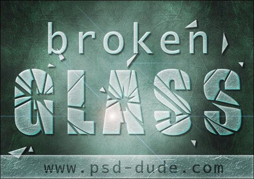 Broken-Glass-Text-in-Photoshop