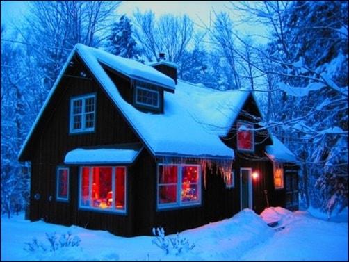 Catskills-Cabin-winter-wallpaper
