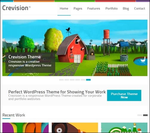 Crevision simple wordpress themes