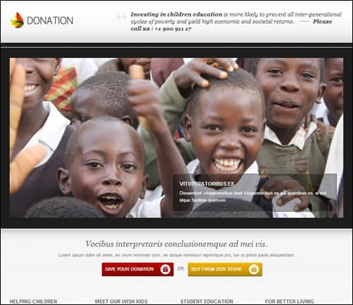 Donation-landing-page-templates