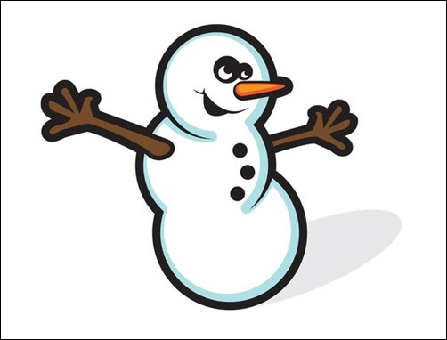 Free-Snowman-Vector