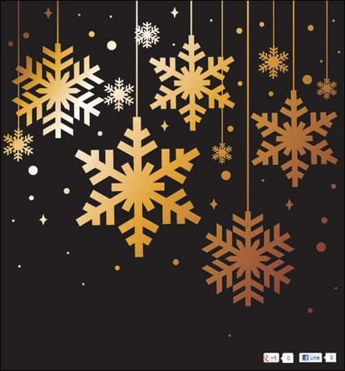 Golden-Snowflakes-Christmas-Background-Vector-Elements