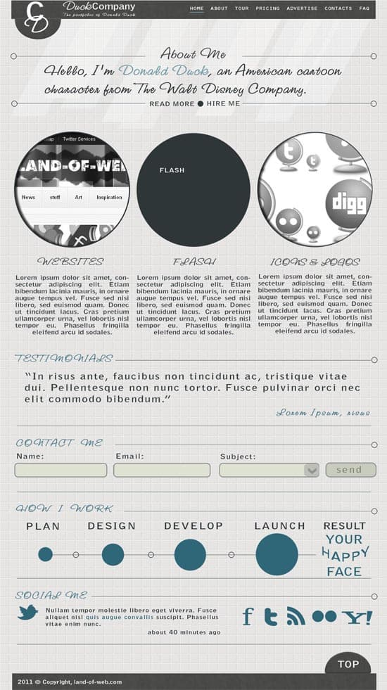 Find out Best One Page Portfolio PSD template