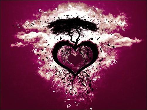 Heart-Love-Tree-valentine-wallpaper
