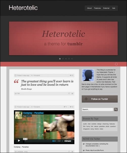 Heterotelic best tumblr themes