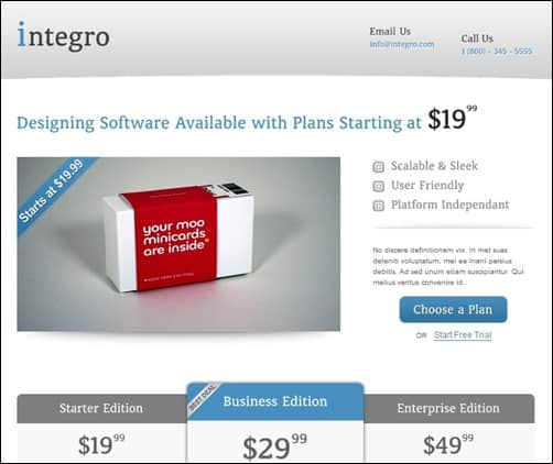 Integro-landing-page-templates