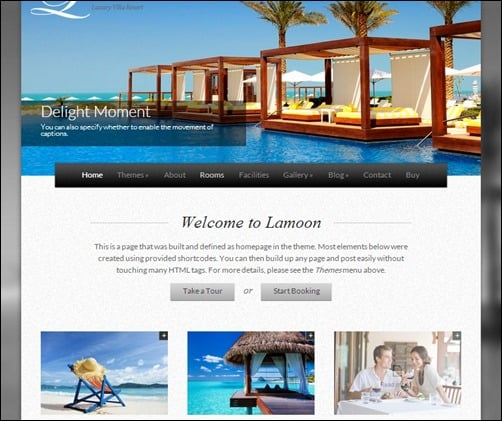 Lamoon responsive WordPress themes