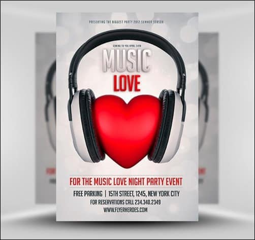 Music-Love flyer templates