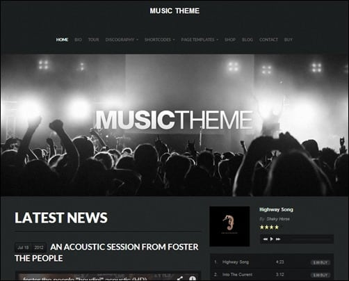 Music Theme wordpress