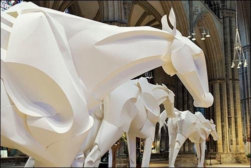 Olympic-Horses-paper-art