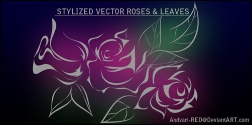 Roses-n-Leaves-Vector-illustrator-brush