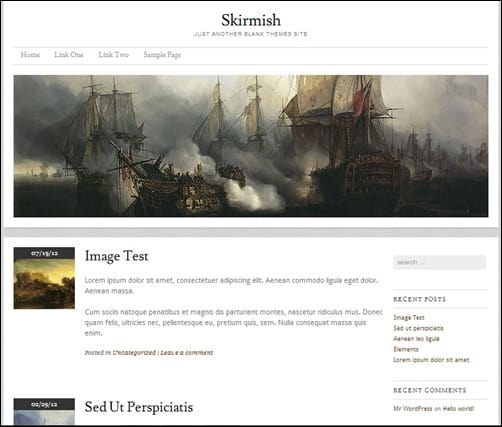 Skirmish responsive WordPress themes