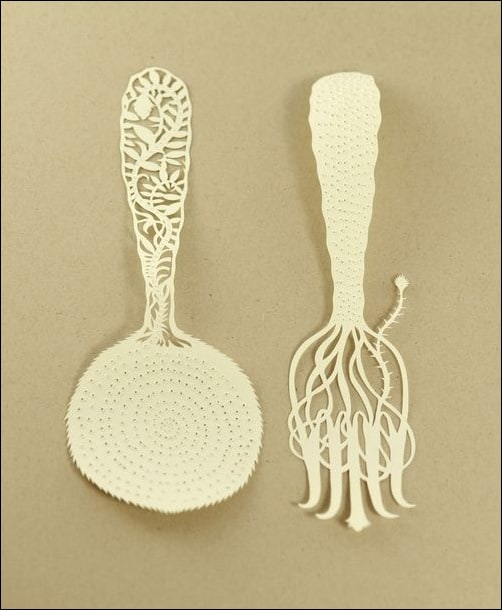 Utensils-paper-sculpture