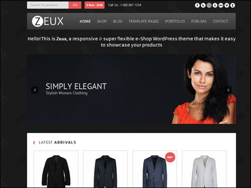 Zeux-01 WordPress ecommerce themes