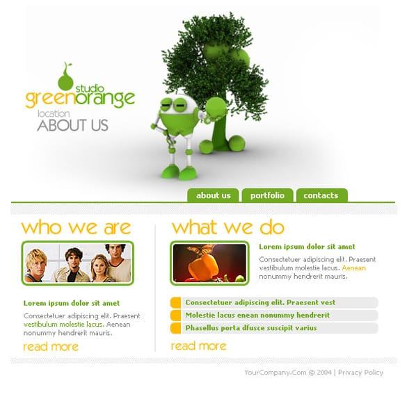 White Website Layout Templates PSD