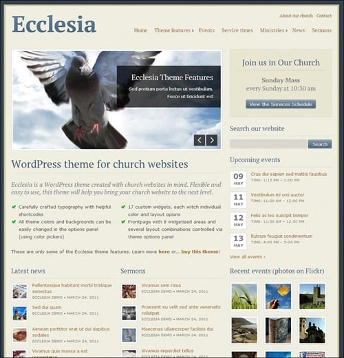 ecclesia Church Website Templates