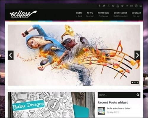 eclipse WordPress Photography Themes