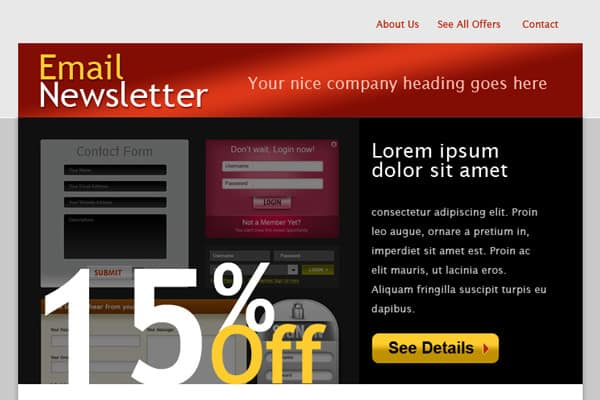 Find Amazing HTML email template