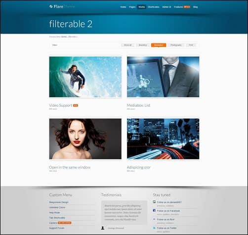 flare-portfolio-theme