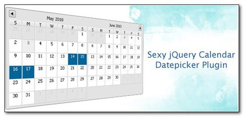 25 jQuery Calendar and Date Picker Plugins