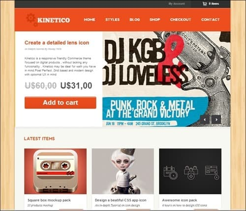 kinetico WordPress ecommerce themes