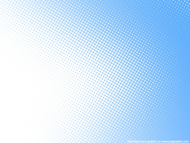 light blue halftone pattern