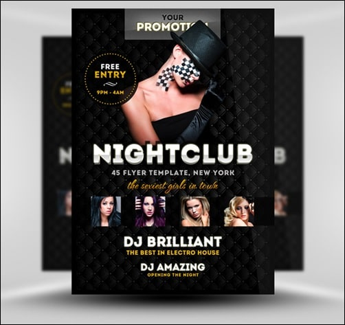 luxury-nightclub flyer templates