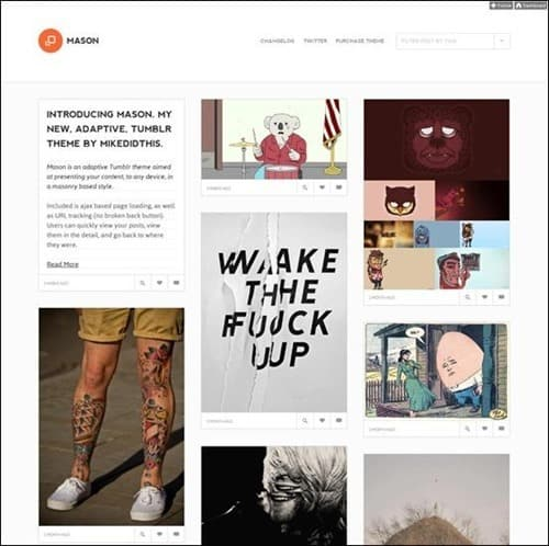 mason best tumblr themes